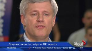 Stephen Harper to resign as MP: report
