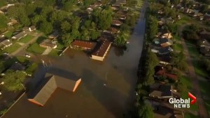 Drone video shows impact of flooding in Louisiana