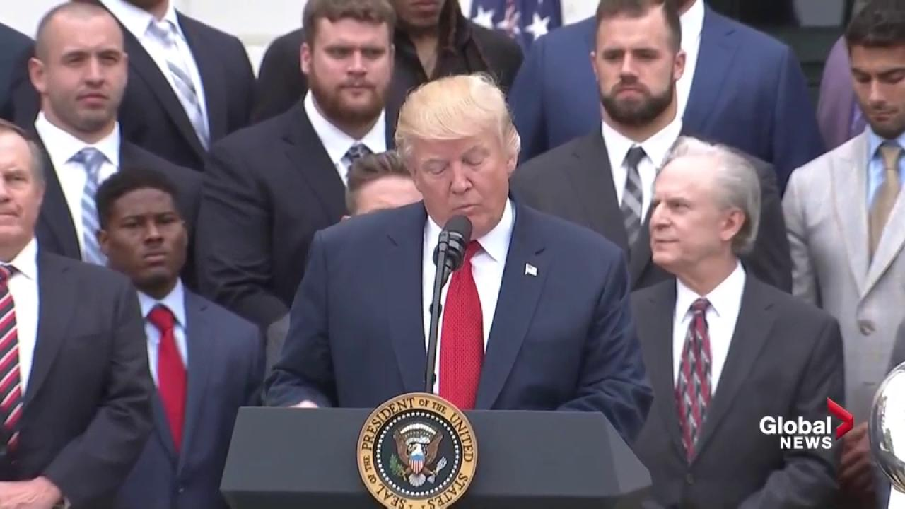 Trump, Patriots fight back against White House attendance photos