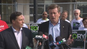 Provincial Liberal minister supports John Tory's transit plan