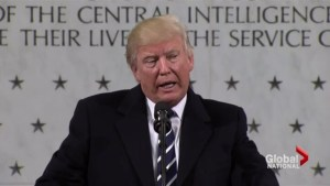 Donald Trump gets to work, offers praise for CIA