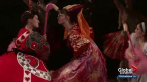 2 tiny members of Alberta Ballet's Alice in Wonderland