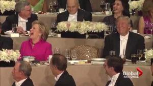 Last laugh? Clinton, Trump square off at charity roast