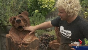 Professional wood carver Ryan Cook creates masterpieces live
