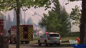 Several brush fires break out in and around Edmonton