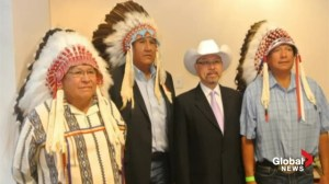 Stoney Nakoda foreign oil drilling partnership