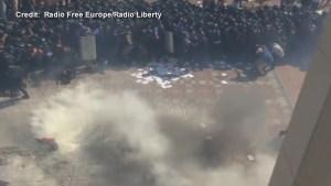 Grenade explodes outside Ukrainian parliament during violent protests
