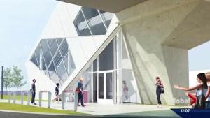 Thirteen million dollar bridge being built at Chinook Centre