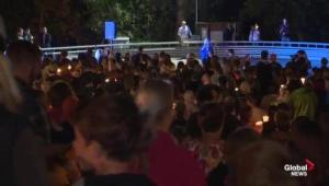 Vigil held for victims of Oregon college mass shooting