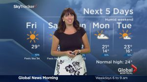 Global News Morning weather forecast: Friday, August 19