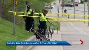 Death of young boy riding bike in Toronto's west end sparks calls for safety barriers