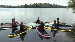CHEX Daily tries a yoga class on a floating studio with YogAdventures
