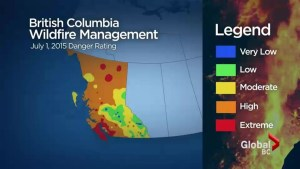 Metro Vancouver fire danger rises to extreme
