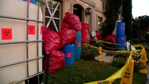 Texas home uses Ebola-themed decorations for Halloween