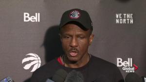 Dwane Casey on how the Raptors avoid losing game 1
