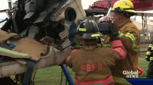 Firefighters get hands-on training in big rig crashes