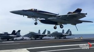 Conflicting reports over course, destination of USS Carl Vinson battle group
