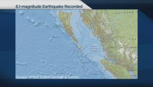 Earthquake reported off B.C. coast
