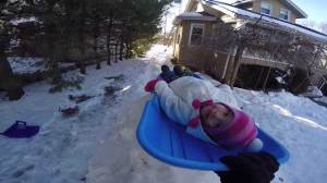 Father's homemade luge track goes viral