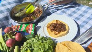 Grilling up tostadas for Cinco de Mayo