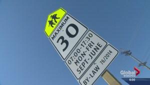 School zone speed limit change in effect