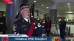Vancouver Police Pipe Band serenade Christmas Wish gift parade