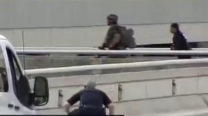 Video shows Fort Lauderdale authorities rush airport parking garage