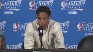 Toronto Raptors' DeMar DeRozan on playoff elimination: 'It sucks'