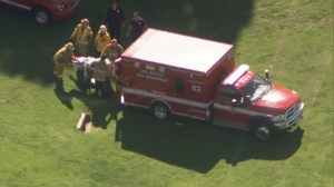 RAW: Victim of small plane crash allegedly piloted by Harrison Ford taken on stretcher