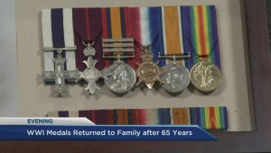 Veteran's war medals found after 65-year disappearance