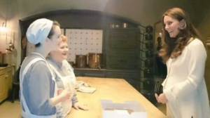 Duchess Kate visits cast on set of Downton Abbey
