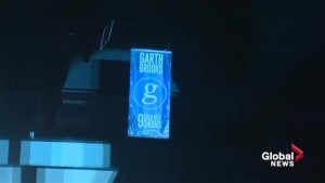 Garth Brooks honoured in Edmonton with banner at Rogers Place