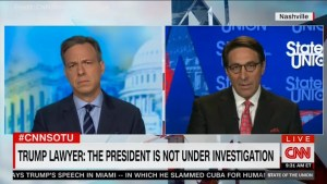 Trump's lawyer contradicts president's claim he is being investigated