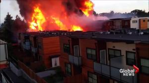 Construction site fire in Saanich deemed suspicious