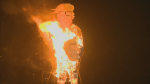 Trump burned in effigy as part of Guy Fawkes Night celebrations in UK