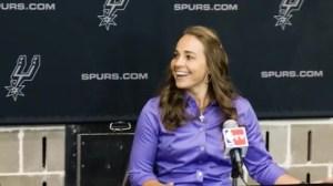 Becky Hammon makes history as first female NBA coach