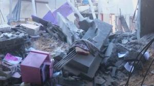 Raw video: Alleged Hamas leader's house hit by airstrike in Gaza
