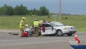 Multiple crashes on roads around Calgary Thursday
