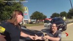 Texas police dispatcher musters clever marriage proposal at a pretend traffic stop