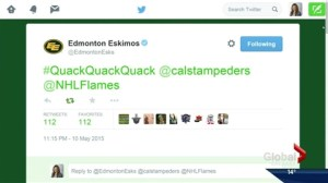Eskimos tweet causes a big Quack