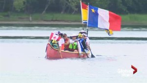 St. John River Brigade paddles its way into Fredericton