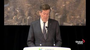 Toronto needs $33 billion to pay for transit projects: John Tory