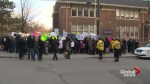 Students, family members protest condo development near midtown Toronto school