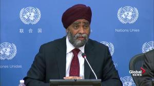 Sajjan: Canada committed to peacekeeping despite lack of overall plan