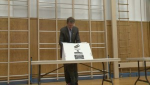 Raw Video: Alberta Party Leaders vote on election day in Alberta
