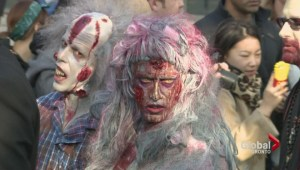 Hundreds participate in Toronto zombie walk