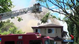 Central Edmonton house damaged by fire