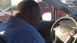 EXCLUSIVE: Taxi driver asleep at the wheel