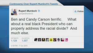 Rupert Murdoch's Tweets cause controversy