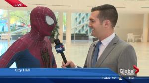 Spiderman in Edmonton to help Spidermable save city